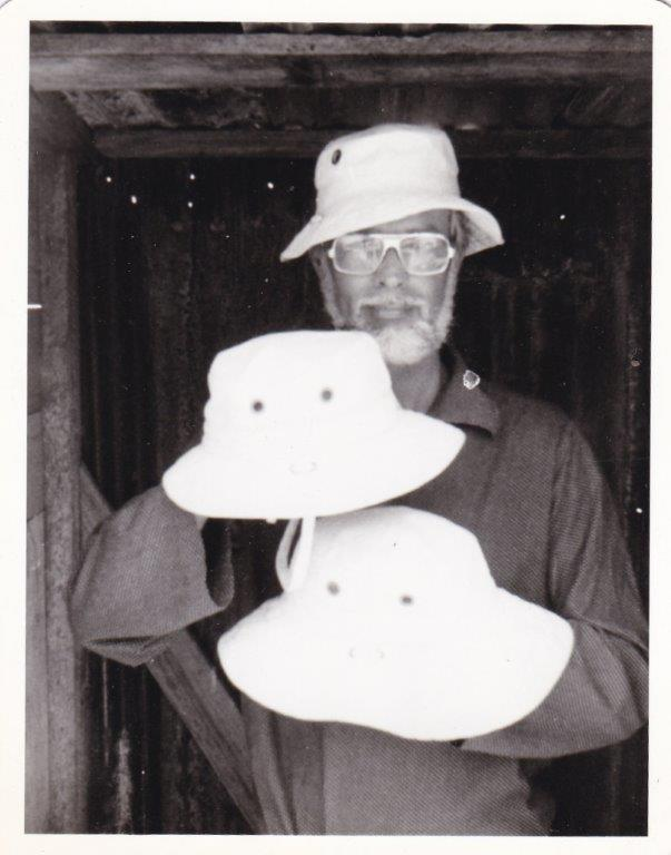 bb4afd7057b83 The very first photo of the Tilley Hats. It was March